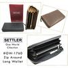 SETTLER #OW-1760 Zip Around Long Wallet画像
