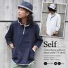 self 綿麻プルオーバーショールカラー 7/S シャツ(2カラー) S2179画像