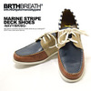 BRTHBREATH MARINE STRIPE DECK SHOES(NAVY/BR/BG) 55383002画像