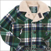 TMT WOOL CHECK BOA RUNCH COAT GREEN画像