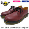 Dr.Martens 1461 3 EYE GIBSON SHOE Cherry Red R11838600画像