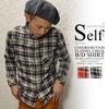 self くるみ釦 フランネル チェック B/D シャツ (2カラー) S2194画像