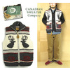 CANADIAN SWEATER W-Zip Cowichan Vest #ELK画像