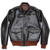 AeroLeather A-2 42-15142-P (AeroLeather Clothing Co, Beacon NY) Jerky Horsehide Seal Brown x Rust Rib画像