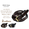 MARTIN FAIZEY 3/4 INCH ROLLER BUCKLE LIGHT WEIGHT BRIDLE BELT画像