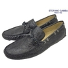 STEFANO GAMBA 5011 COCCO BLU (NAVY CROCO) Made in Italy画像