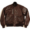 AeroLeather A-1 Oil Pull Horsehide Brown画像