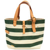 "SUNSET CRAFTSMAN ""POTRERO"" TOTE BAG (L) GREEN x IVORY SCCP003画像"