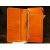 革蛸謹製 台形ロングワレットプレミアム イタリアンカラーレザー オレンジ画像