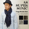 AS SUPER SONIC FRINGE WRINKLE STOLE KST-4029画像