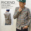 RICEND CHECK SHIRT 636-6620画像