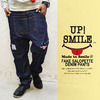 UPSTART UP SMILE SALOPETTE DENIM PANTS 43165005画像