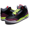 NIKE GIRLS AIR JORDAN 3 RETRO GS blk/a.red-c.gry-vlt 441140-039画像