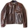 Aero Leather HALFBELTED / FRONT QUARTER HORSEHIDE Lochcarron Black Stewart lining画像