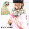 WASH'N'MADE PANEL BORDER SCARF 13FWWNM29画像