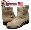 CHIPPEWA 7INCH PLAIN TOE ENGINEER BOOT made in U.S.A. sand suede 1901M13画像
