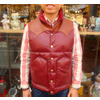 RAINBOW COUNTRY LEATHER DOWN VEST COWHIDE×HORSEHIDE WINE RCL-10037HC画像