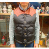 RAINBOW COUNTRY LEATHER DOWN VEST COWHIDE×HORSEHIDE BLACK RCL-10037HC画像