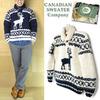 CANADIAN SWEATER Shawl PullOver Knit ELK Cowichan画像