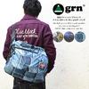 grn 柄転写プリント リップストップナイロン ポケッタブル ショルダーバッグ GRN413025F画像