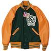 "SKOOKUM AWARD JACKET Melton Wool x Leather Sleeve ""ELLET 1951"" RAGLAN SLEEVE, CHENILLE PATCH画像"