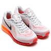 NIKE WMNS AIR MAX 2014 PURE PLATINUM/BLACK-LASER CRIMZON/TOTAL OTANGE 621078-006画像