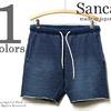 SANCA インディゴカットオフスウェットショーツ S14SPT33画像
