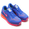 NIKE WMNS AIR MAX 2014 GAME ROYAL/HYPER PINK-BRIGHT MANGO/BLACK 621078-400画像