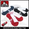 BEN DAVIS Gorilla Sneaker Socks 3 Pack BDS-9302画像