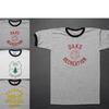 BAYSIDE 半袖 プリント リンガー トリム Tシャツ メンズ画像