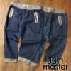 gym master デニムリブクロップドパンツ G121341画像