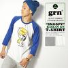 grn SNOOPY RAGLAN 8/S TEE GU431222R画像