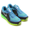 NIKE AIR MAX 2014 LIFT BLUE/REFLECT SILVER/FLASH LIME/BLACK/HYPER TURQ 621077-403画像