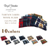 ROYAL HEATHER BY JOHNSTONS TARTAN LAMBSWOOL SCARF画像