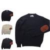 MINNESOTA RUGG エルボーパッチ付き ラグウール クルーネック セーター メンズ ウール 長袖画像