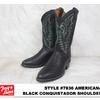 TONY LAMA 7936 AMERICANA BLACK CONQUISTADOR SHOULDER画像
