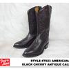 TONY LAMA 7923 AMERICANA BLACK CHERRY ANTIQUE REGAL CARF画像