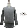 LOOP&WEFT リサイクル ムラ糸 杢ワッフル Vガゼット クルーネック ロングスリーブTシャツ LRC1012画像
