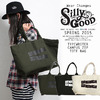 SILLY GOOD TYPE WRITER CAMPUS ZIP TOTE BAG SG15-SP1AS01画像