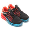 NIKE AIR MAX 2015 GS BLACK/WHITE-BRIGHT CRIMSON/BLUE LAGOON 705457-001画像