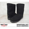 MINNETONKA SHORT PUG BOOT #3579 BLACK SHEEPSKIN画像