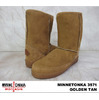 MINNETONKA SHORT PUG BOOT #3571 GOLDEN TAN画像