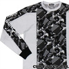 A BATHING APE DAZZLE CAMO TWO-TONE LONG SLEEVE TEE MULTI 1B30-111-006画像