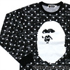 A BATHING APE ABC DOT BIG APE HEAD LONG SLEEVE TEE BLACK 1B30-111-005画像