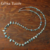 Colina Yazzie Nuggut Necklace TURQUOISE画像