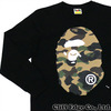 A BATHING APE 1ST CAMO BIG APE HEAD LONG SLEEVE TEE 1B30-111-015画像