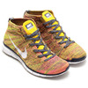 NIKE FREE FLYKNIT CHUKKA MIDNIGHT NAVY/WHITE-TOUR YELLOW/PINKPAW 639700-402画像