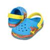 crocs CROCSLIGHTS DINOSAUR CLOG PS OCEAN/WALNUT 16191-4CH画像