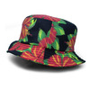FITTED HAWAII HOME GROWN BUCKET HAT BLACKxMULTI FTH004画像