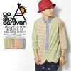 go slow caravan LINEN COTTON BORDER 7S RAGLAN SHIRT 310218画像